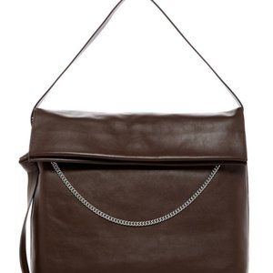 All Saints Lafayette Leather Shoulder Bag, Prune
